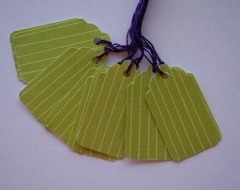 Green Striped Gift Tags (10)