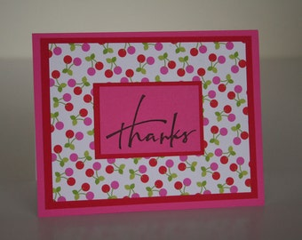 Thank You Card-  Cherries