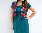 Striped & Floral Sweater Vest