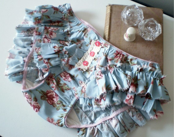 Abigail Ruffled Floral Bloomer Panties Made to Order In Your Size