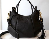 OPELLE Baby Ballet Bag - Washed Lambskin Leather in Soft Black
