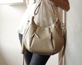 OPELLE  Ballet Bag - Soft Pebbled Leather in Bisque - Made to Order