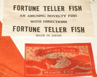 Vintage Fortune Teller Fish Made in Japan