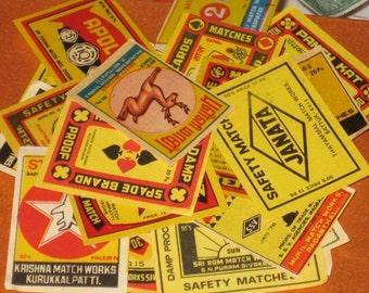 Lot of 45 Vintage Assorted Indian Matchbox Labels