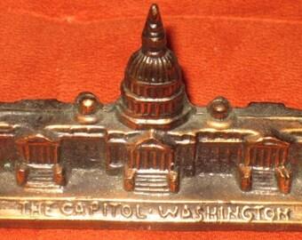 Vintage Washington DC Souvenir The Capitol Building