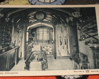Vintage English Postcard The Armoury Abbotsford