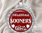 OU Sooners Bottlecap Necklace with chain FREE SHIPPING