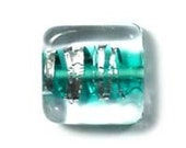 Square bead teal B490