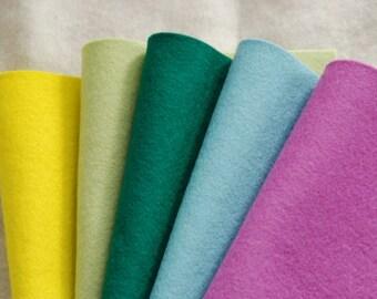WOOL FELT SPRING - 100% Pure Wool felt sheets - Oeko-tex Standard 100 - 20 x 30cm