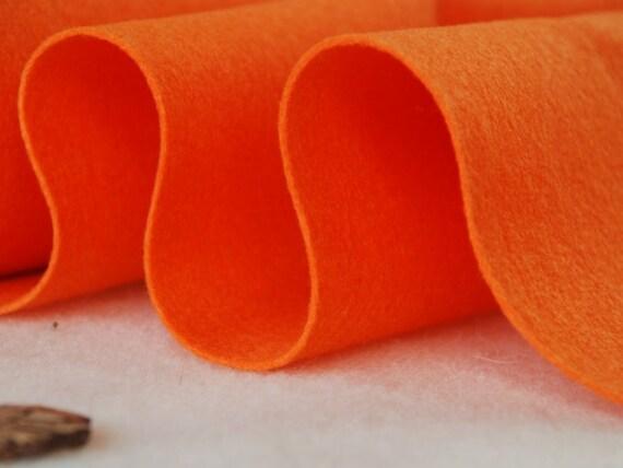 ORANGE WOOL FELT  - 100cm x 45cm x 1-1.2mm pure Wool Felt
