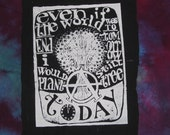Punk Patch,  Even if the World Ended Tommorrow, I Would Still Plant a Tree Today - Large Bag or Back Patch - anarchy patches anarchist