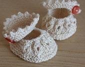 Knitting pattern (pdf file) - Baby Shoes Vanilla( sizes 0-6/6-12 months)