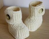 Knitting Pattern (PDF file) Winter Baby Boots (0-6/6-12 months)