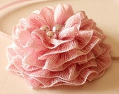 Crochet Pattern / Tutorial / Headband Dusty pink Flower (all sizes)