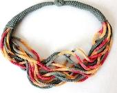 Knitting Pattern (PDF file) Necklace SunShine Accessory
