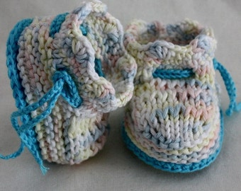 Knitting Pattern (PDF file) Baby Booties Sea Wave (0-6 months)