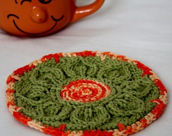 Knitting Pattern (PDF file) Coaster Leaves