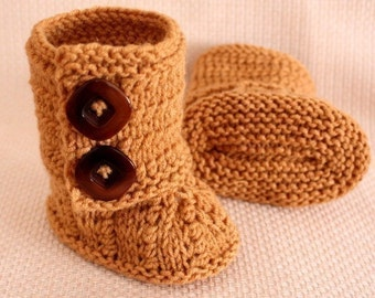 Knitting Pattern (PDF file) Baby Boots (0-6/6-12 months)