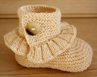 Knitting Pattern (PDF file) Step by Step Toddler Boots ( 18 months/2 years/3 years)