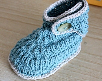 Knitting Patten (Pdf file) - Toddler Stream Booties (18 months-2 years/ 3 years)