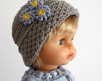 Knitting Patterns (pdf file) Forget-Me-Not baby Hat (sizes 0-3/3-6/6-12/12-24 monthes)