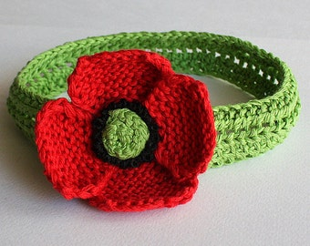 Knitting Pattern (pdf file) Headband Poppy
