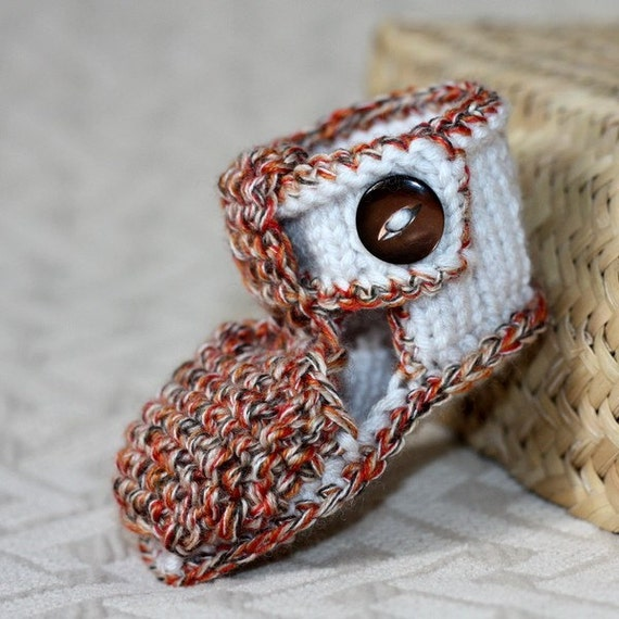 Knitting PATTERN (PDF file) Baby Sandals