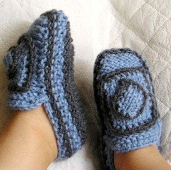 Knitting Pattern PDF file Baby Moccasins with knit