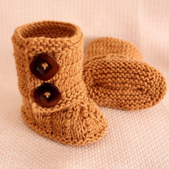 Sweaters Knitting Patterns : Knitting PATTERN PDF file BABY BOOTS 0-6/6-12 months