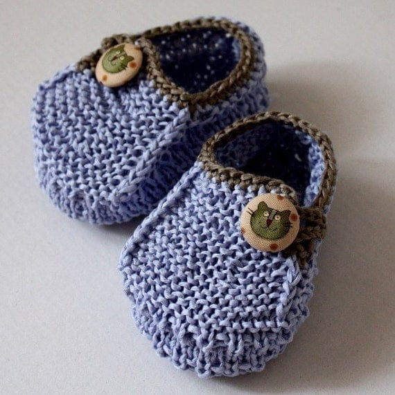 Knitting pattern baby booties funny cats 0 6 6 12 months