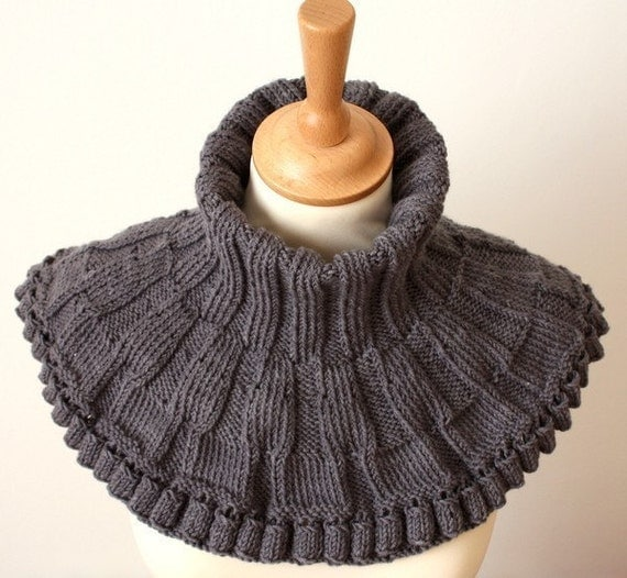 Knitting Pattern For Scarf In The Round : Knitting Pattern PDF file Round Cowl Scarf