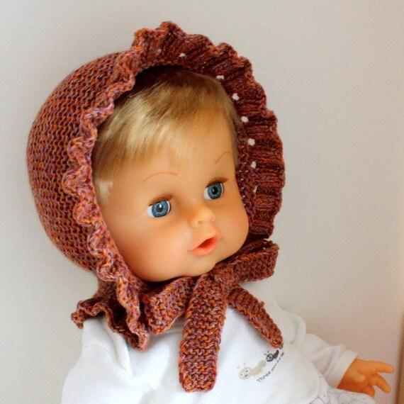 Knitting Pattern (pdf file) BONNET (size 0-3 months)