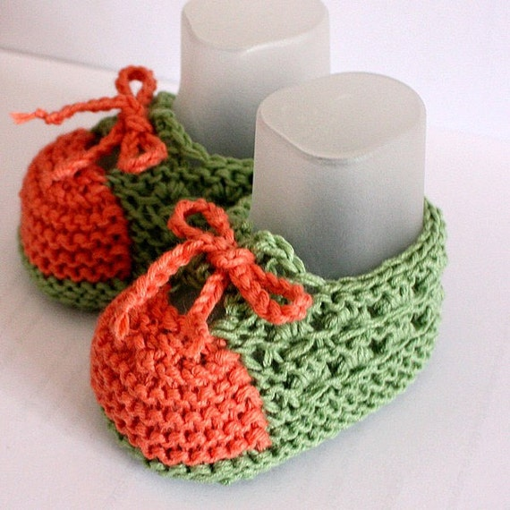 Knitting Pattern (PDF file) Baby Booties Little Feet ( made for sizes 0-6/6-12 months)