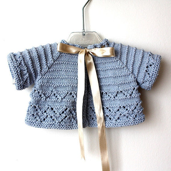 Knitting Pattern Cardigan For 18 Months : Knitting Pattern (pdf file) Baby Cardigan/Shrug (sizes 1/3/6/12/18 months fro...