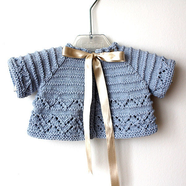 Knitting Pattern Baby Bolero Cardigan : Knitting Pattern pdf file Baby Cardigan/Shrug sizes