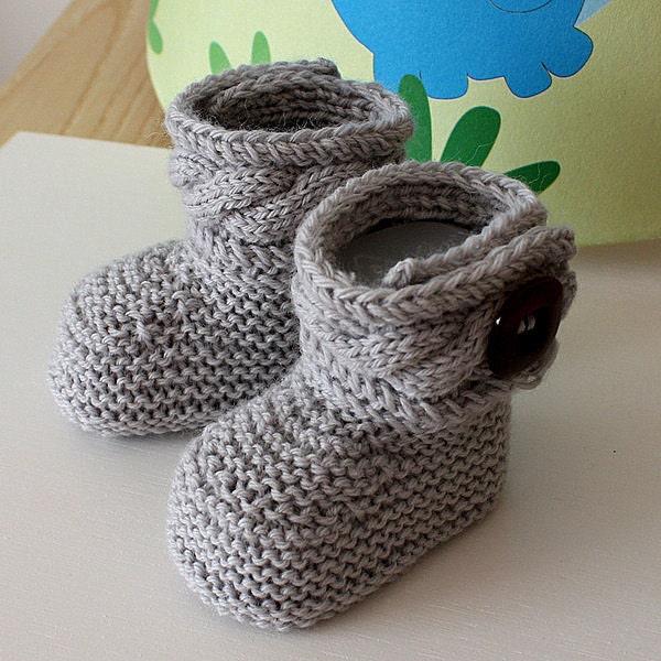 Knitting Pattern Baby Boots : Knitting Pattern pdf file Stylish Baby Boots sizes