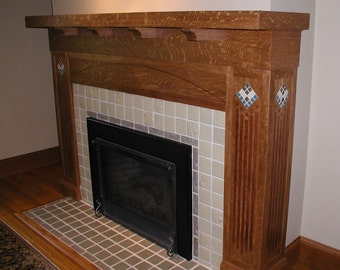 Custom Arts and Craft Fireplace