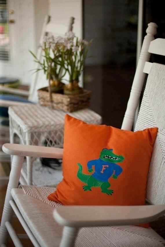 Gameday Pillow Cover- Albert The Alligator
