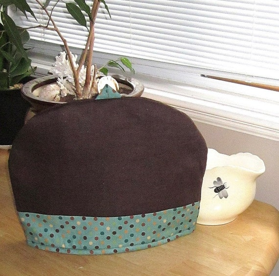 Tea Cozy Chocolate Brown Linen kitchen cottage home decor by Mygypsycottage on Etsy