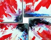 Christmas Abstract  18 x 18 original artwork by Russ Smith
