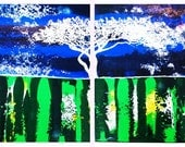 Tree of Lights HUGE 48 x 24 inches Dual Panel by Russ Smith