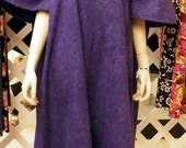 3X women, Ladies dress, house dress, lounge dress, roomy dresses, butterfly sleeves. Purple dress. Moo Moo dresses