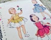 Vintage Dress Patterns - Simplicity 3648 - Girls Size 6 Pattern