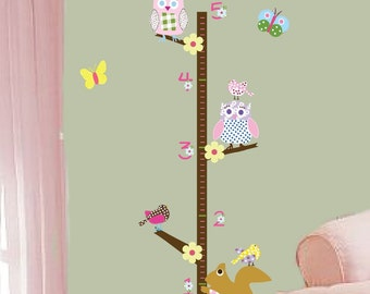Vinyl Wall Art - Growth Chart -  Kids Nursery Playroom