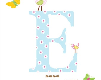 Wall Decal Name Wall Decal Nursery Wall Decor Baby Girl Butterflies Personalized Name