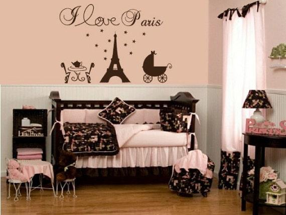 Items Similar To Paris Eiffel Tower Vinyl Wall Decal Baby