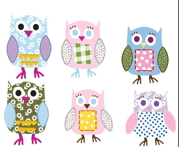 Items Similar To Vinyl Wall Decal Stickers Owls Girls Baby
