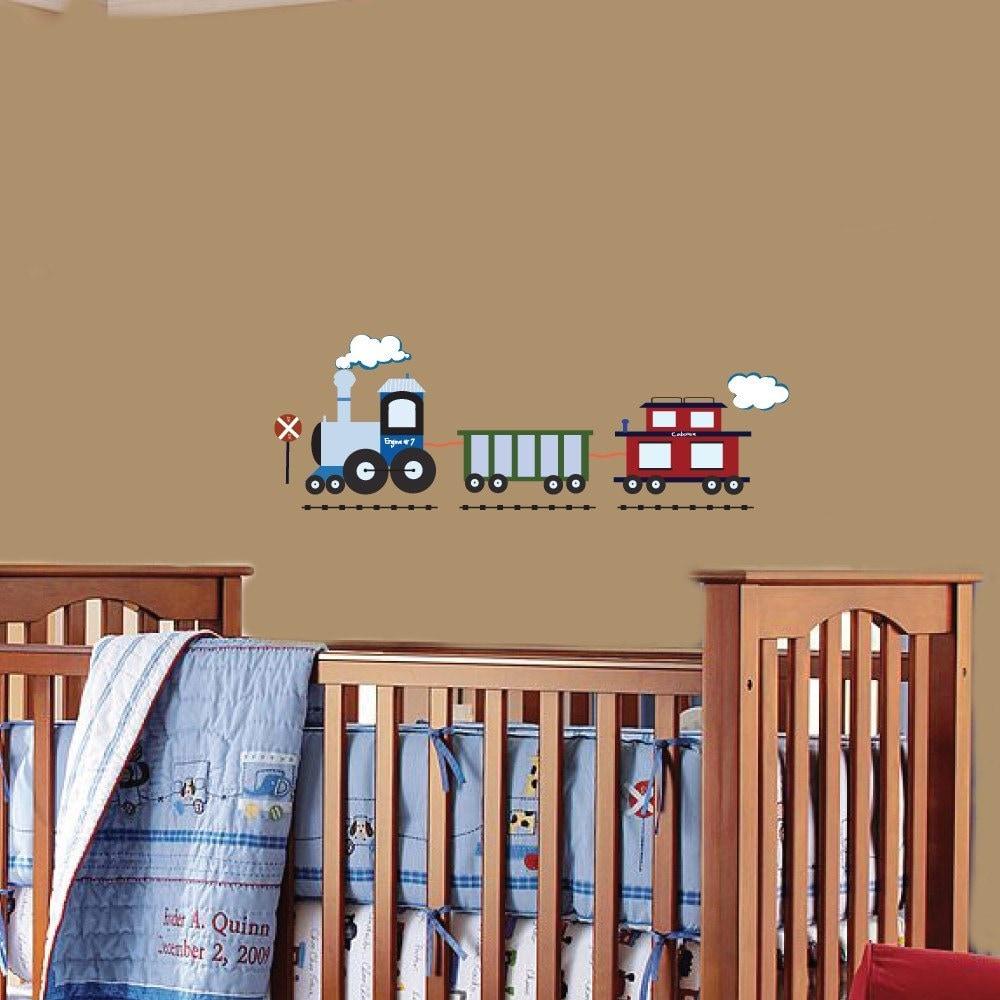 vinyl wall decal kids vinyl wall art stickers boys train. Black Bedroom Furniture Sets. Home Design Ideas