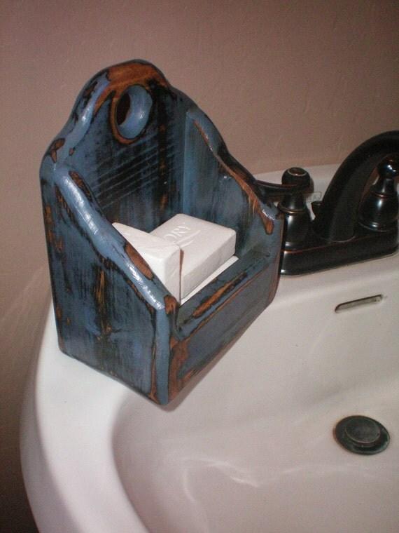 Denim Country Blue Primitive Soap Candle Box