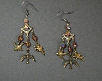 Amber Charm Earrings